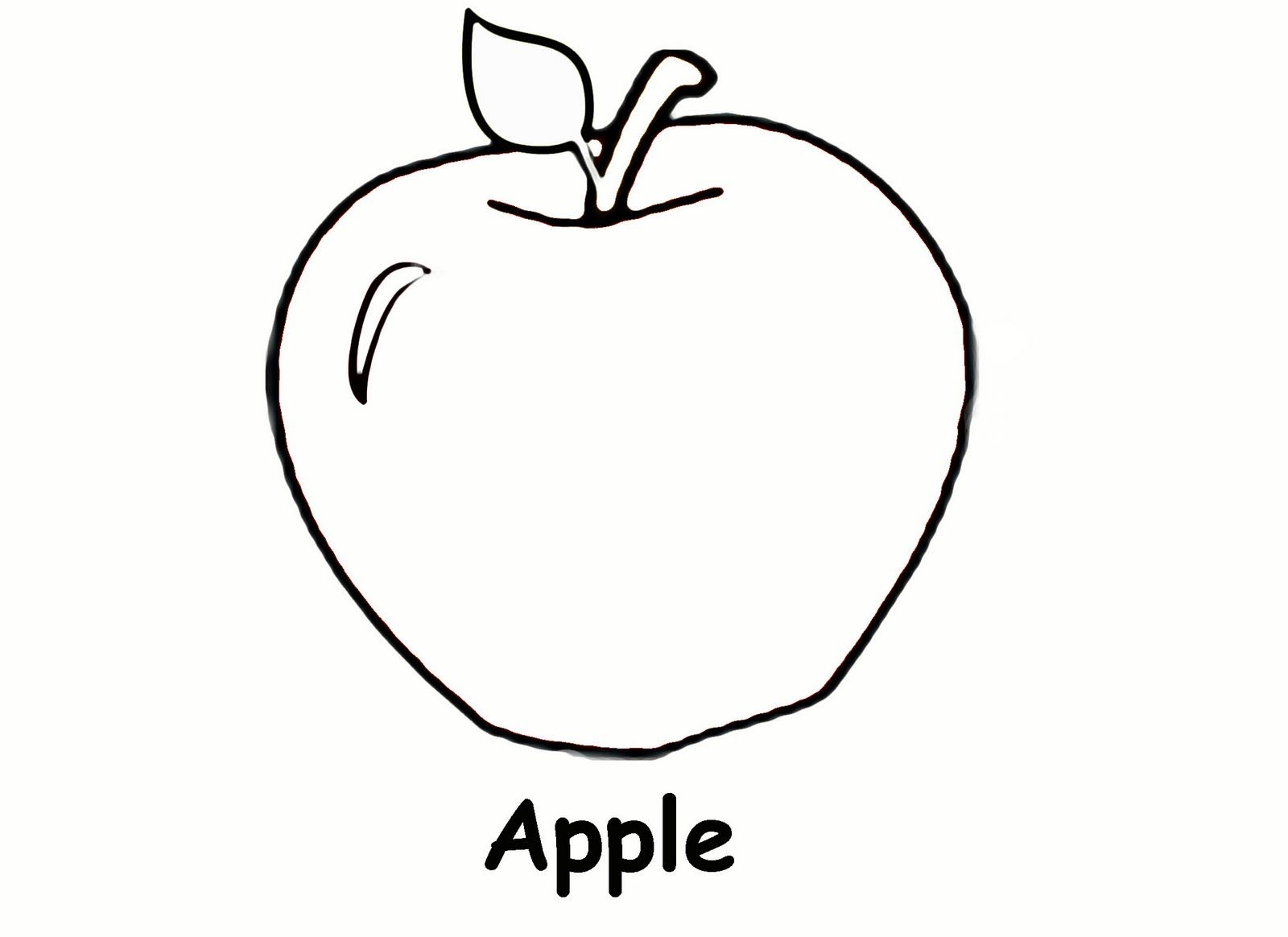 Free Printable Apple Coloring Pages For Kids With Images