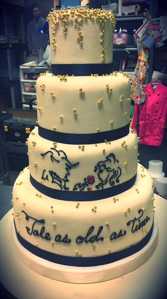 Beauty And The Beast Wedding Cake Adrienne Co Bakery Wedding
