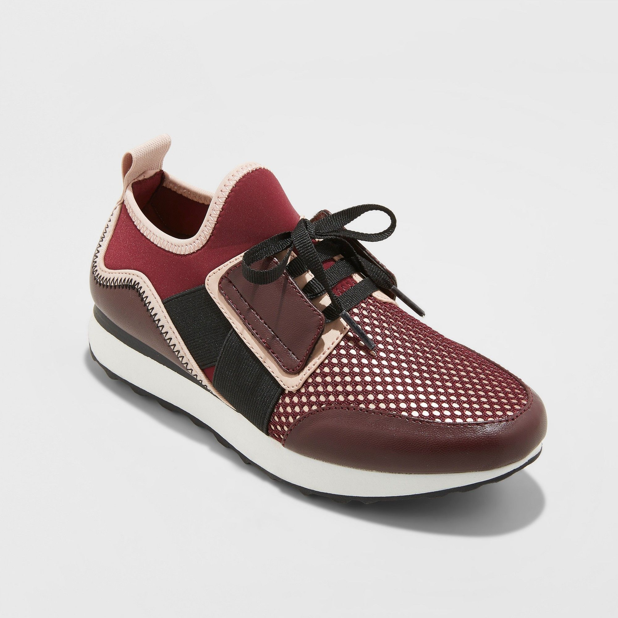 ded0248c34c Women s Deena Lace Up Sneakers - A New Day Burgundy 9.5