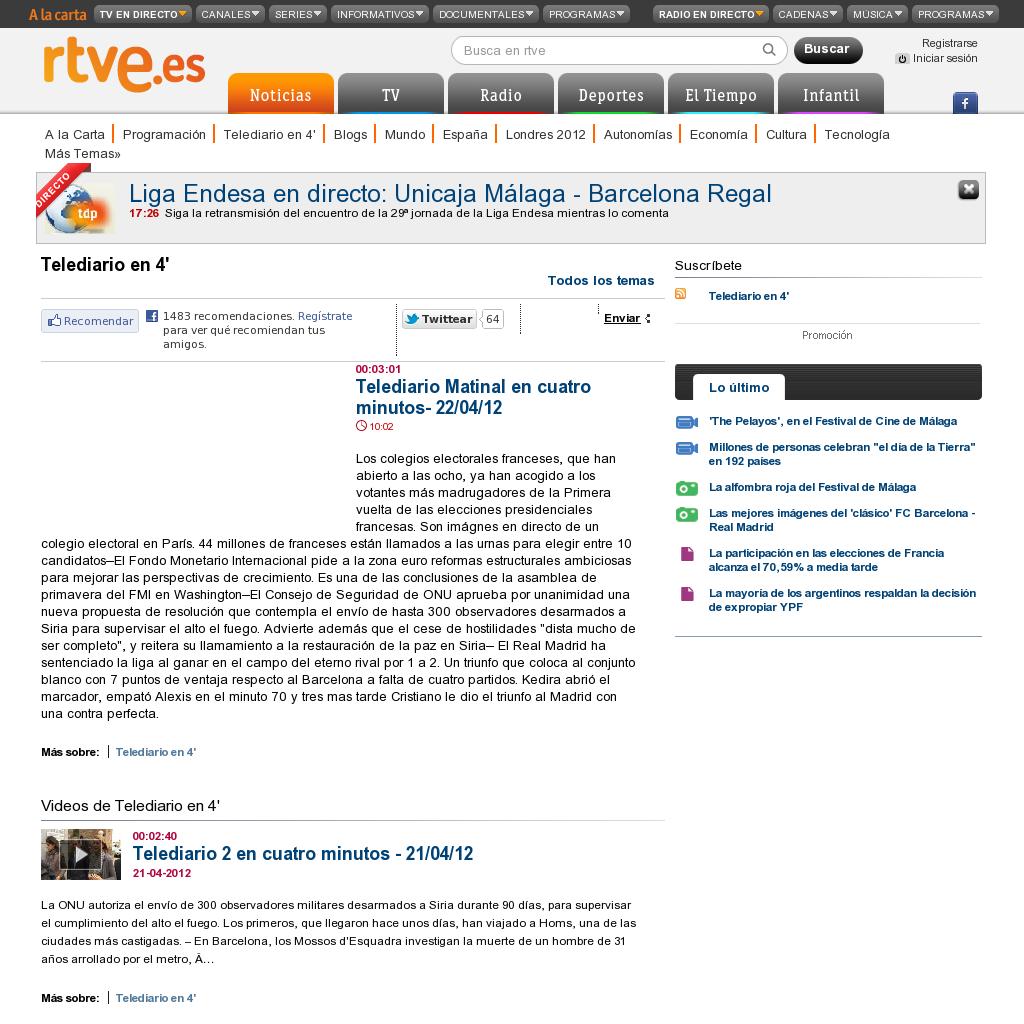 Telediario Online Rtve Es A La Carta Noticias Rtve Es Documentales