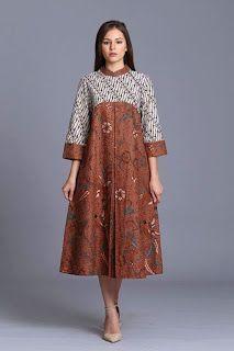 1 Dari 50 Lebih Gambar Model Baju Batik Modern Terbaru 2018 Yang