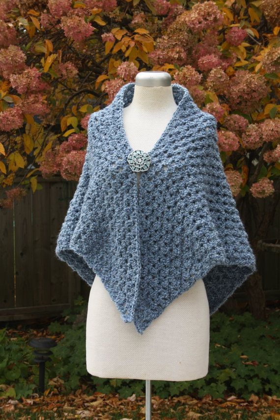 Granny square PRAYER SHAWL Custom made SOFT Chenille yarn Chemo ...