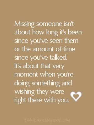 Missing lots of someones... all the time.