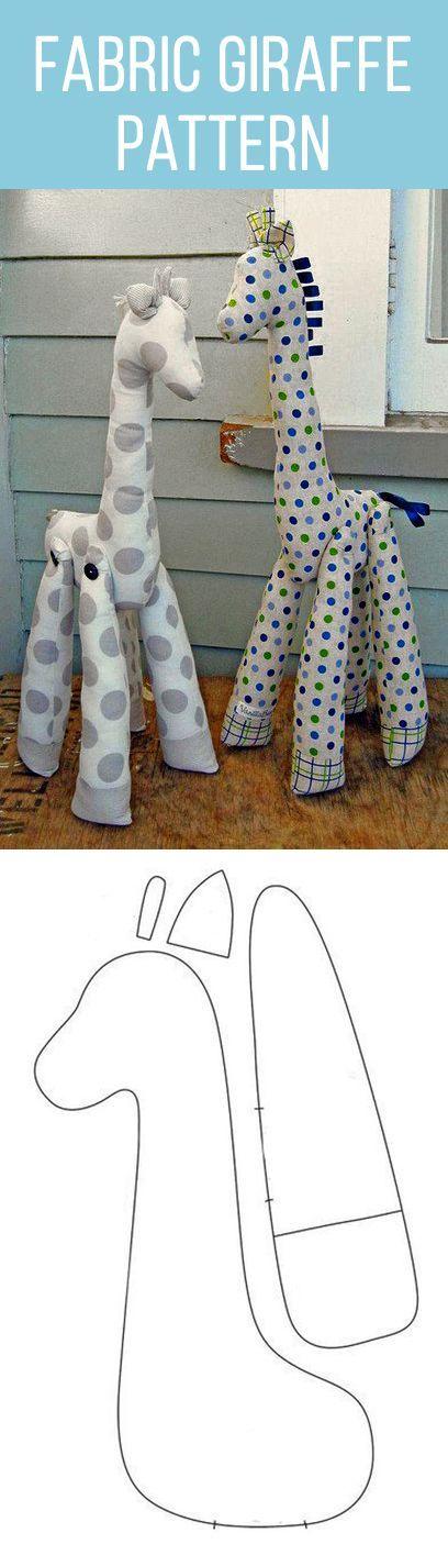 Fabric giraffe pattern   Figurák/játékok   Pinterest   Jirafa, Molde ...