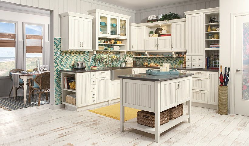 Beadboard Cupboards Merillat S Motto Is Dream Kitchens For The Real World And To Prove It Their Gallery Sh Country Kitchen Kitchen Design Merillat Cabinets