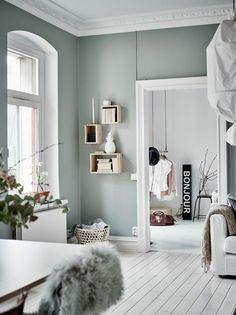 Farbe Salbei im Interieur für ein angenehmes, natürliches Ambiente
