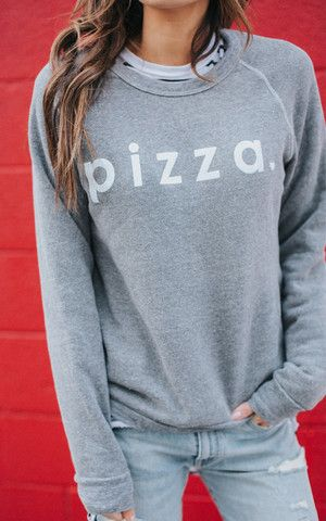 99f8527922 Sometimes a sweatshirt doesn t have to say much to mean everything.    Ily  Couture Pizza Sweatshirt