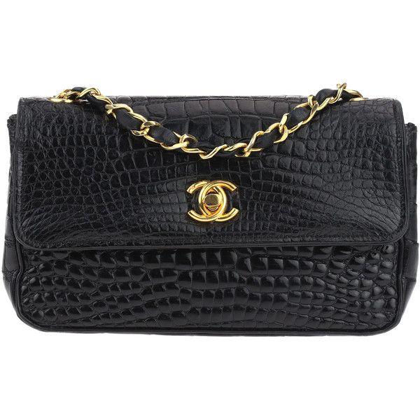 Pre Owned Chanel Vintage Black Crocodile Mini Rectangular Flap 561 120 Dop Liked