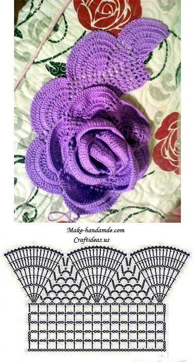 Crochet flower scarf - Free Pattern (Chart) #crochetflowers
