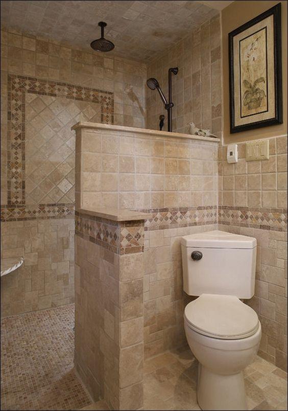 Walk In Shower Designs No Glass Bathroom Layout Small Bathroom