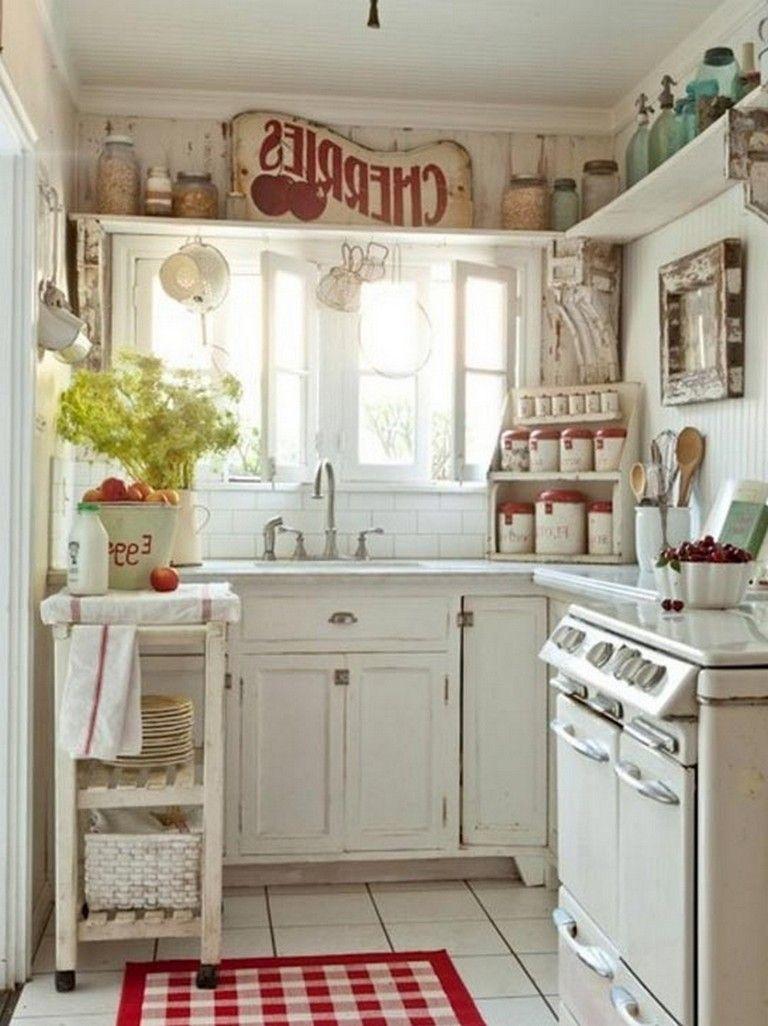 70 Graceful White Shabby Chic Kitchen Wall Shelves Country Chic Kitchen Shabby Chic Kitchen Curtains Chic Kitchen Decor