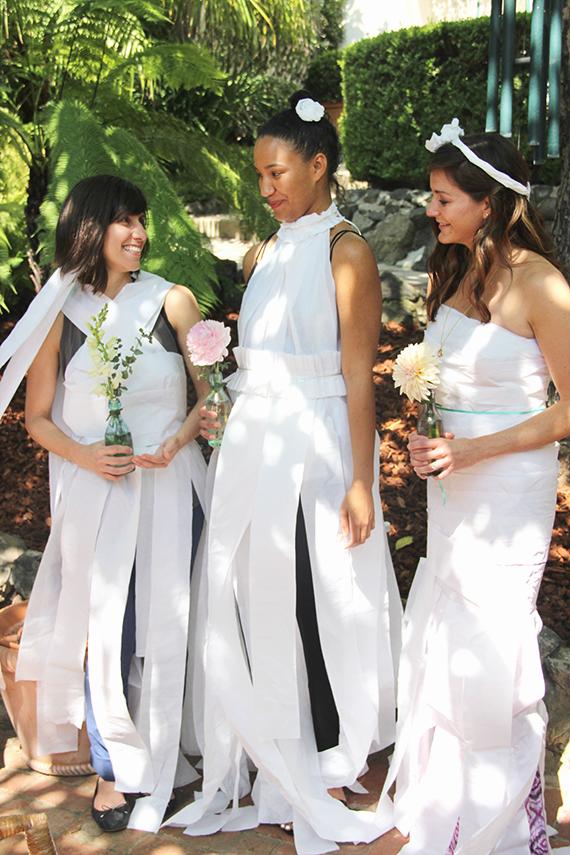my bridal shower paper dress contest