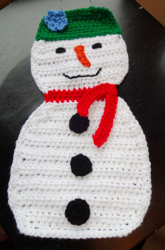 Large Holiday Snowman Crochet Pattern By Stitchingstonedesign Crochet Patterns Crochet Snowmen Patterns