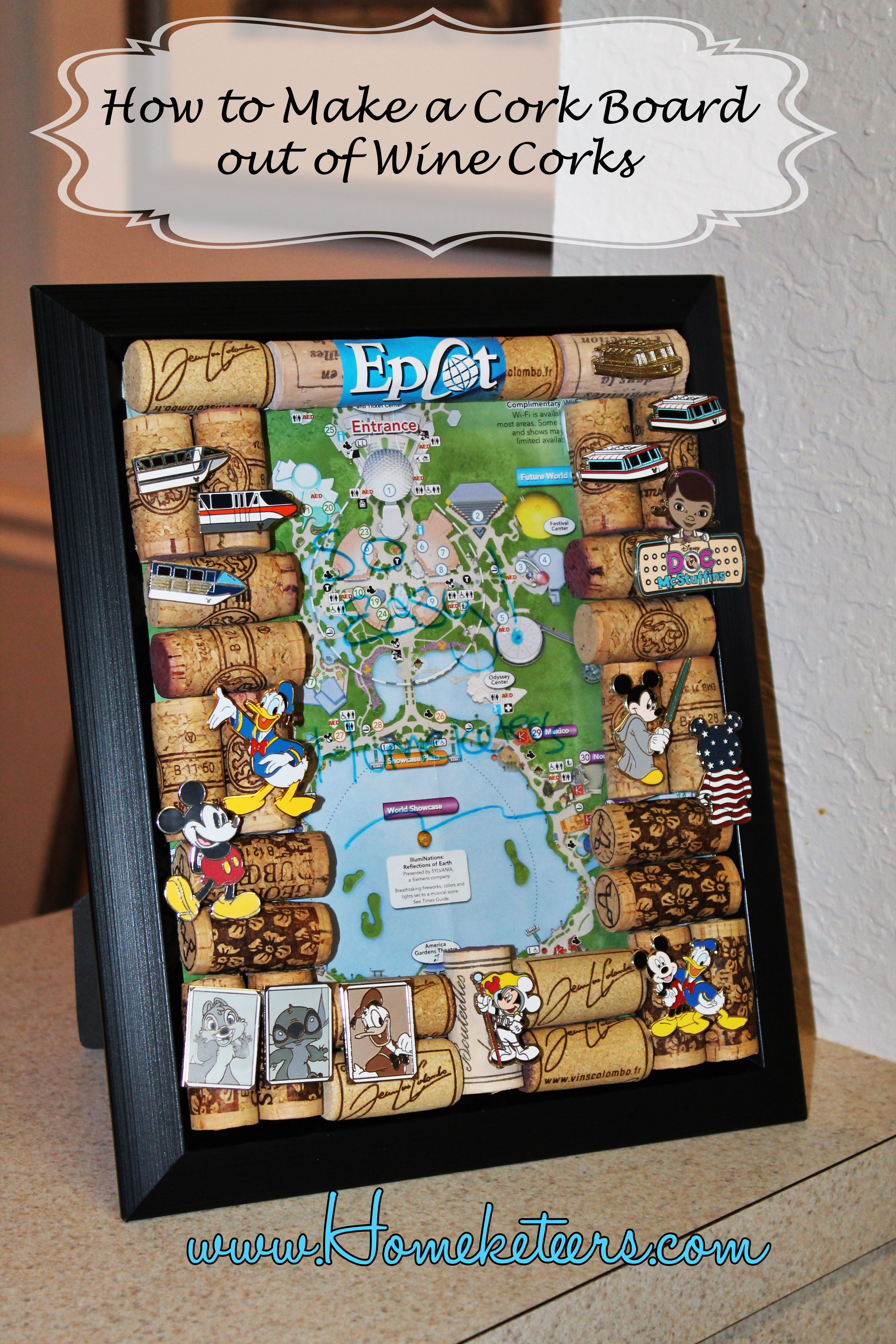 How To Make A Cork Board For Pinning Wdw Trading Pins
