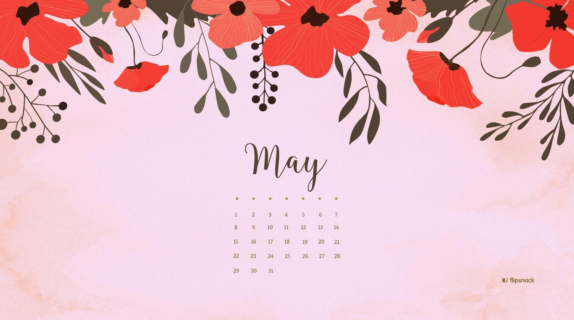 May 2018 Calendar Desktop Wallpaper Calendar Wallpaper Desktop Wallpaper Watercolor Wallpaper