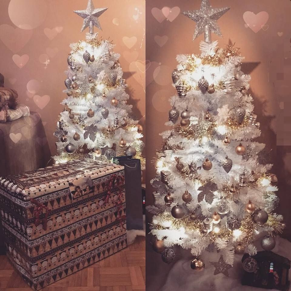 25 Awesome Silver And White Christmas Tree Decorating Ideas Mini White Christmas Tree Christmas Window Decorations White Christmas Tree Decorations