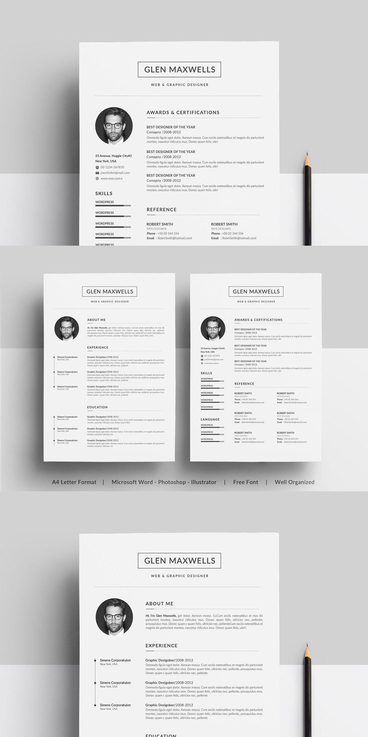 Resume in 2020 Clean resume template
