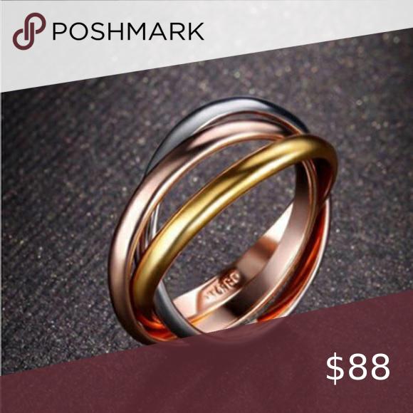Restocked - titanium ring - rose/gold/silver color