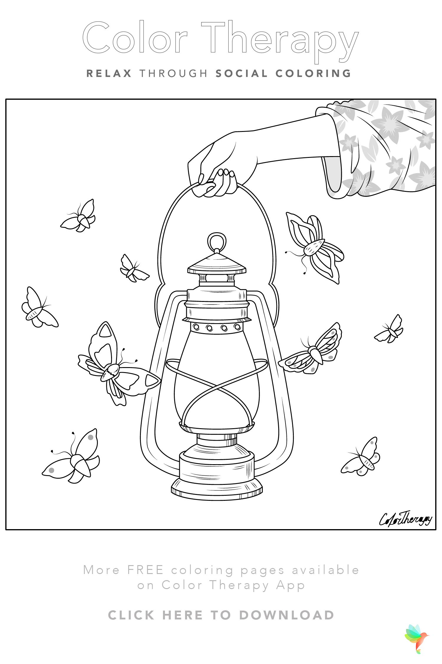 Color Therapy Gift Of The Day Free Coloring Template Color Therapy Free Coloring Pages Color Therapy App