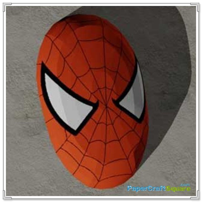 Spider Man Mask Papercraft Sanat Etkinlikleri Orumcek Adam Orumcek