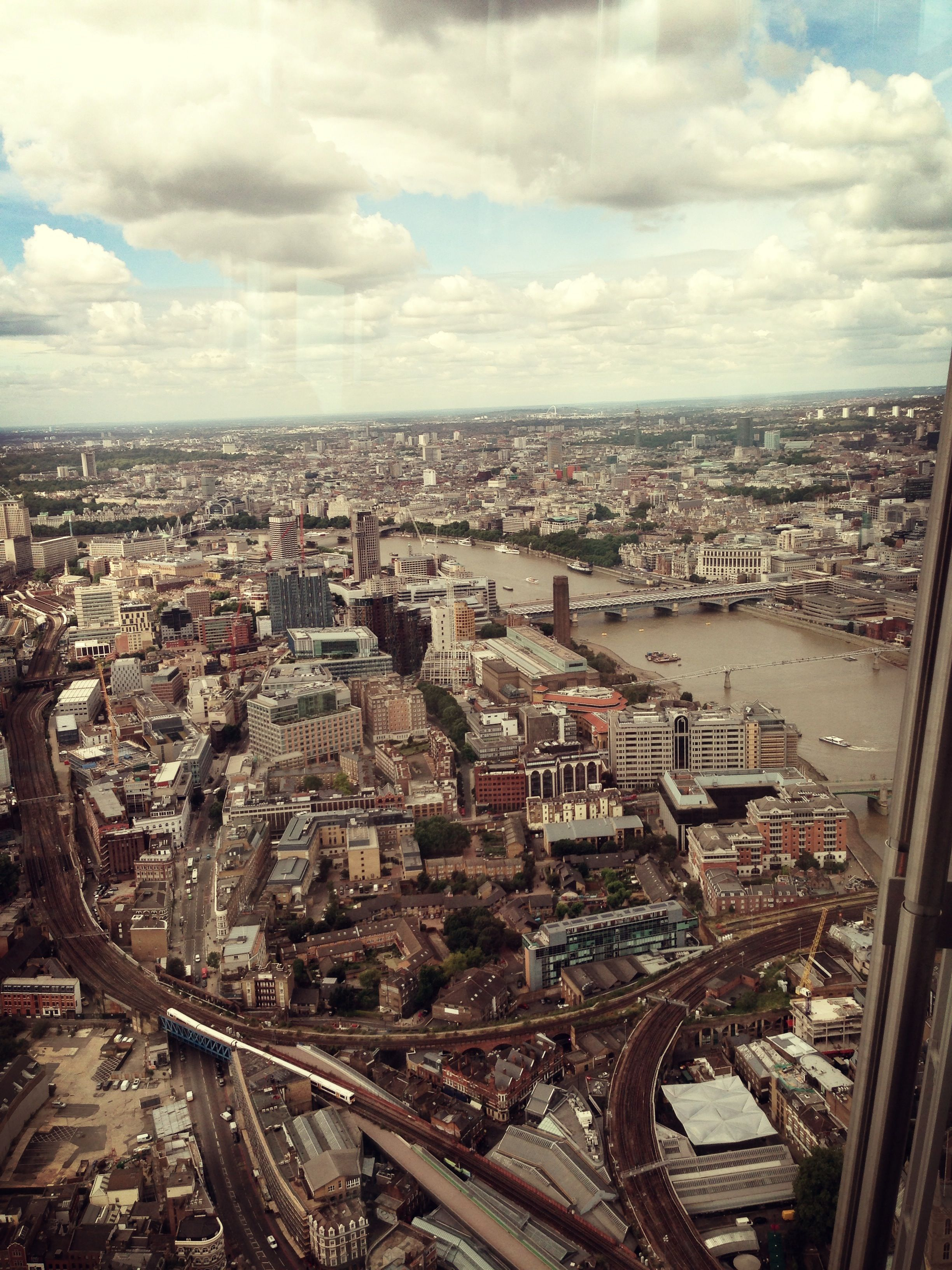 View from the Shard, London.