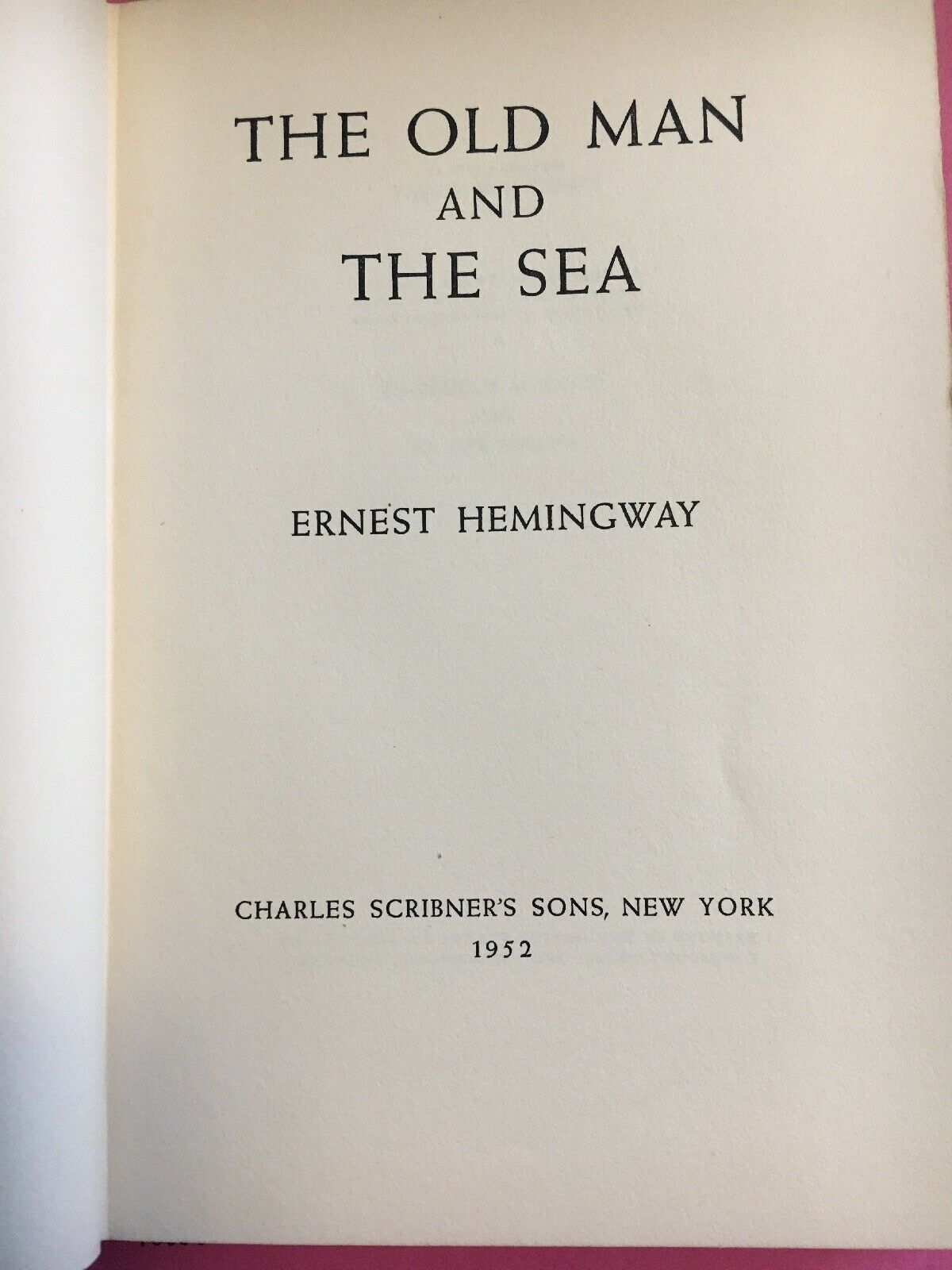Forsale the old man and the sea ernest hemingway first