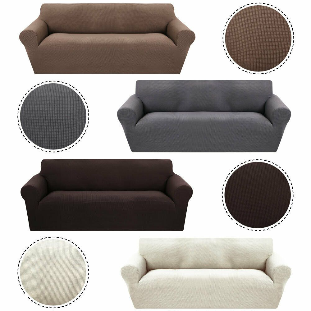 Elastic Slipcover Solid Thick Plush Sectional Sofa Couch Covers 1 2 3 Seater Plush Sofa Ideas Of Plush Sofa Pl Plush Sofa Sectional Sofa Couch Plush Couch