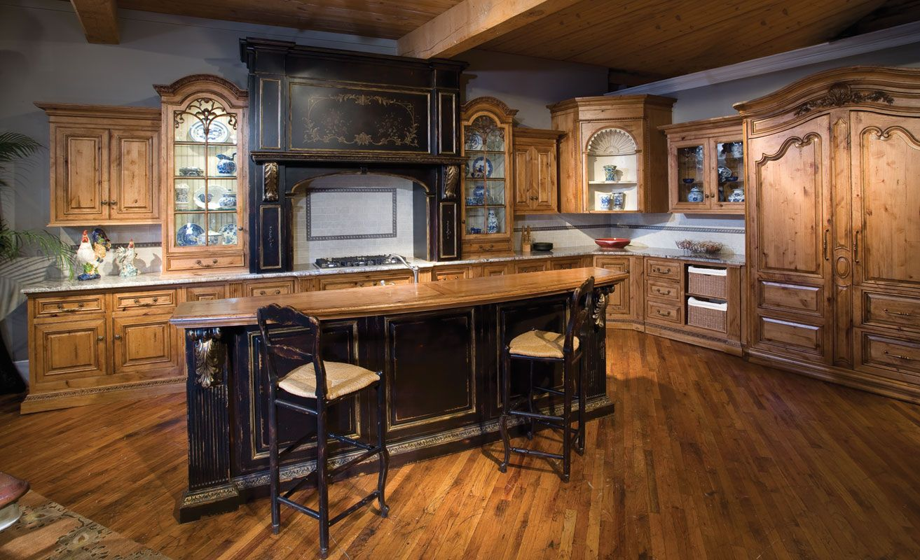 Custom Rustic Kitchen Islands Unusual Log Home Kitchen .craft Cabinetry For Today S Kitchen