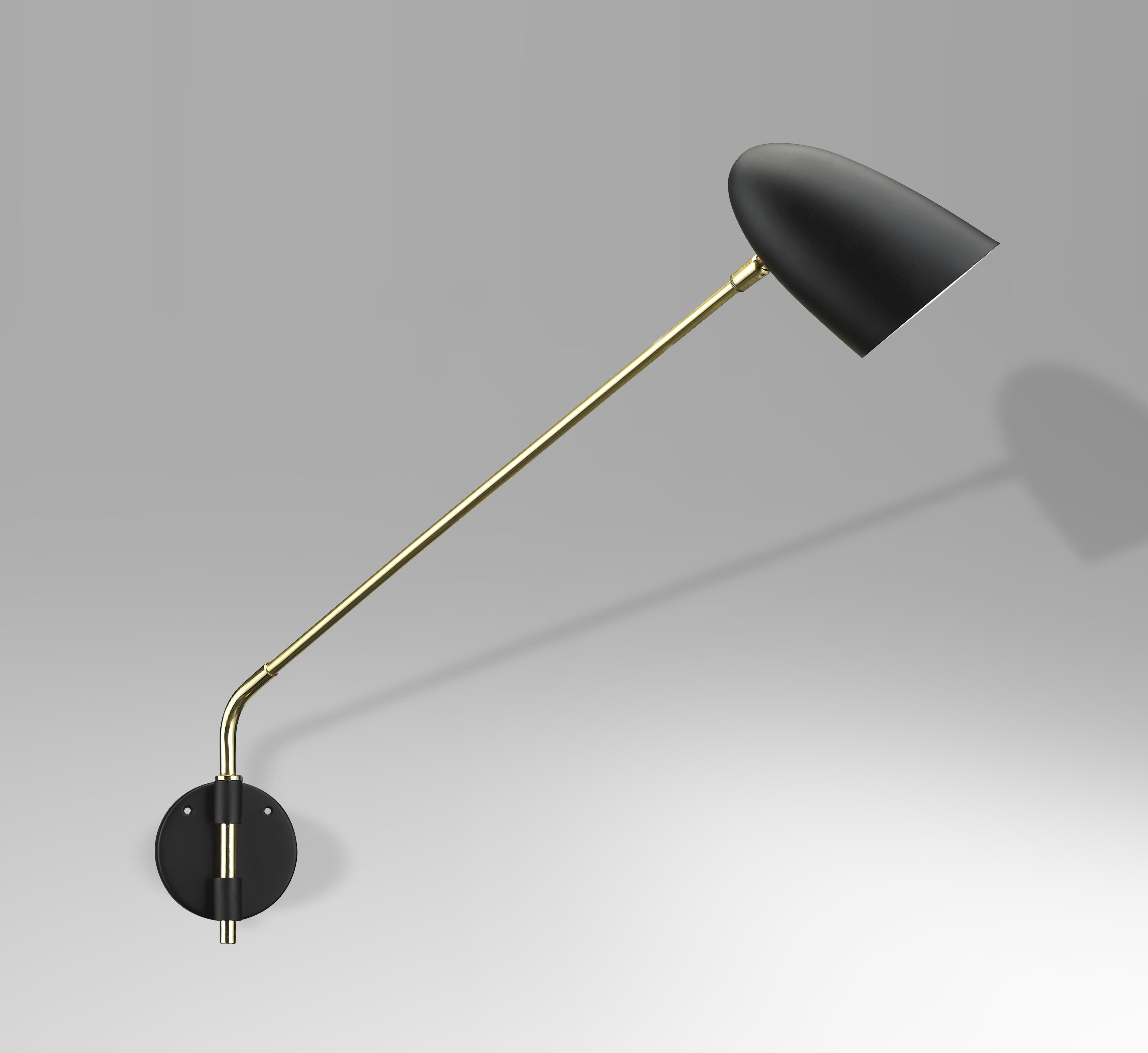 Mid Century Wall Sconce Black Products Wall Sconce