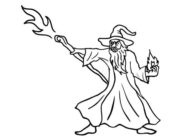 Merlin The Wizard Attack With His Magic Stick Coloring Pages Bulk Color Merlin The Wizard Coloring Pages Merlin