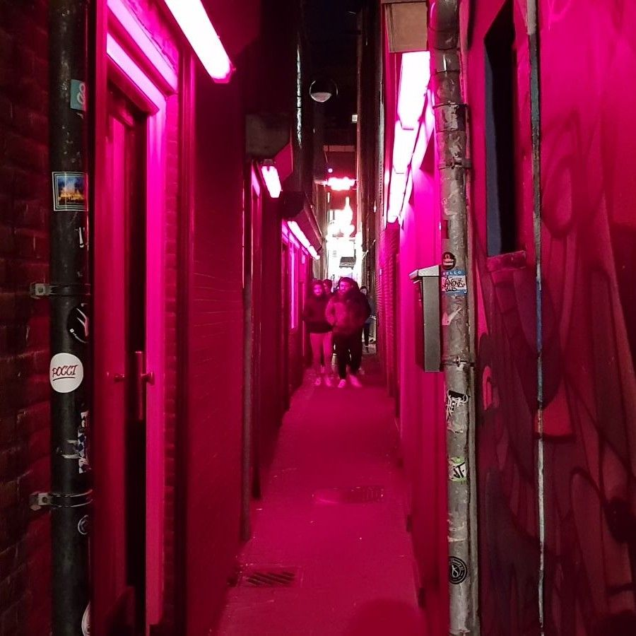 The Trompettersteeg Is The Narrowest Alley Of Amsterdam Located In