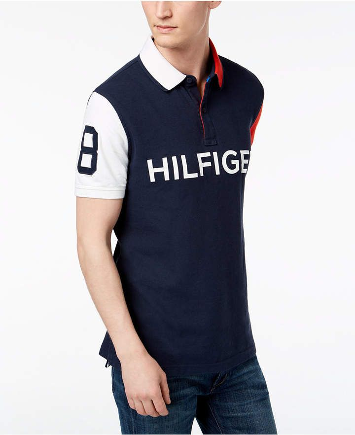 932846c00 Tommy Hilfiger Men's Colorblocked Performance Polo | Products | Polo ...