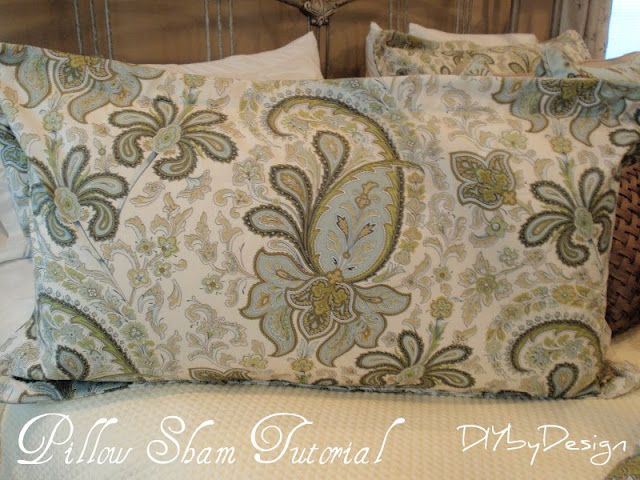 Diy By Design How To Make A King Size Pillow Sham King Size