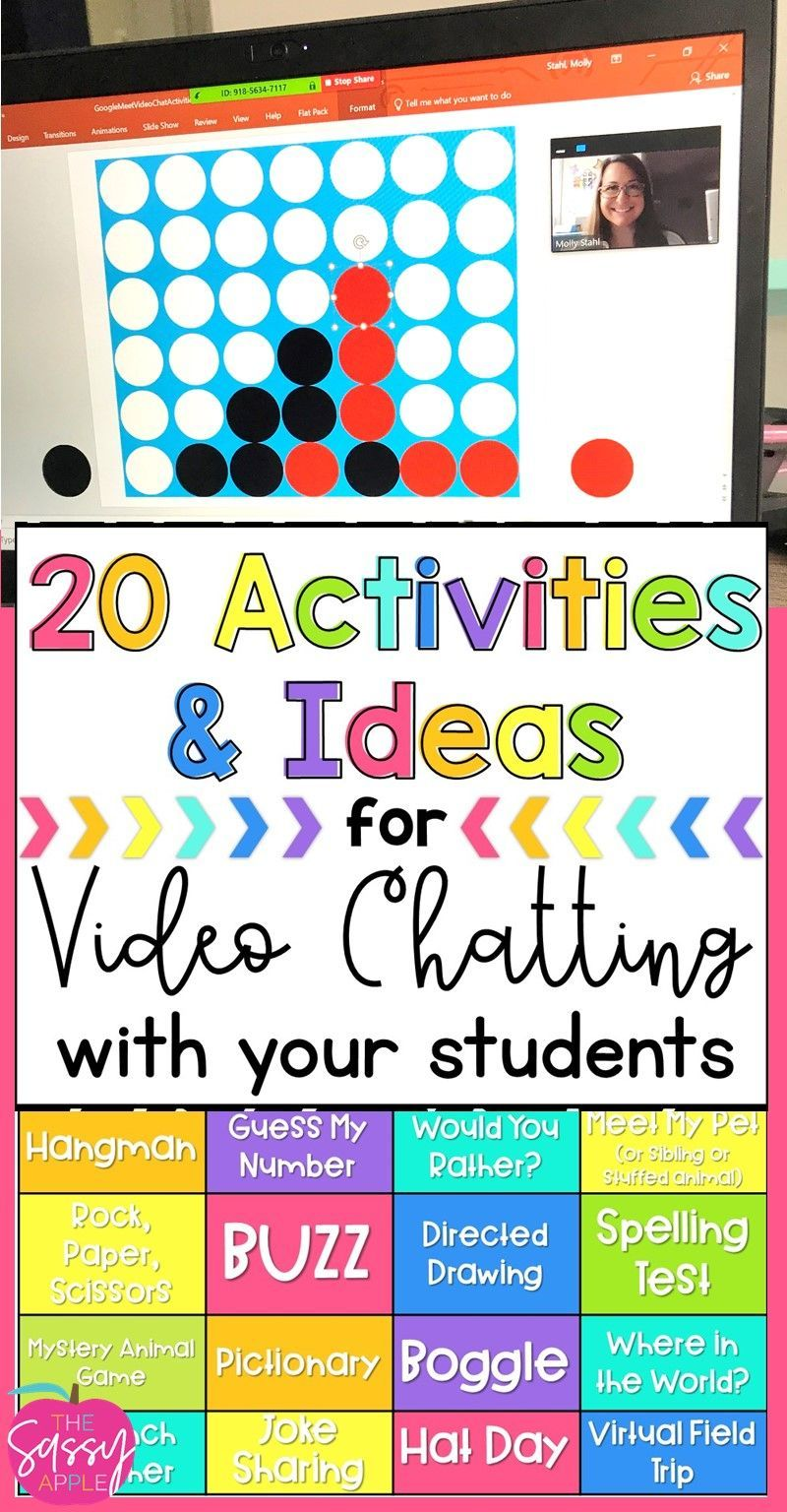Virtual Classroom Meetings 24 Activities Games Ideas for