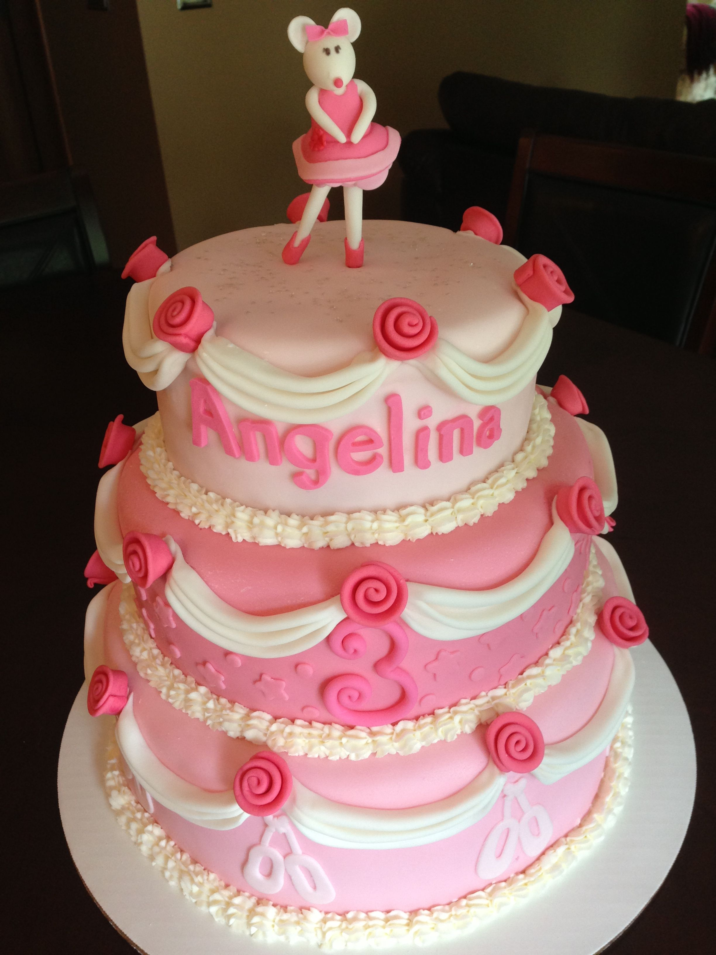 Angelina Ballerina Birthday Cake Birthday Cakes Pinterest