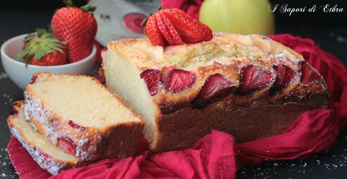Amici oggi vi presento un dolce di primavera a tutti gli effetti il mio plumcake alla ricotta con fragole mele e cocco.. Una golosità infinita