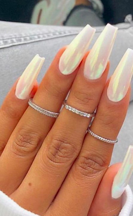 40 Cute Nail Art Designs To Welcome Summer 6 Bloghenni Online Flowernaildesigns In 2020 Coffin Nails Designs Best Acrylic Nails Pretty Acrylic Nails