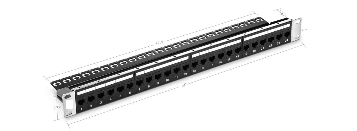 Patch Panels 44992 24 Ports Cat5e Unshielded Feed Through Patch Panel 1u Rack Mount 09348 Buy It Now Only 71 25 On Patch Panel Patch Panels Paneling