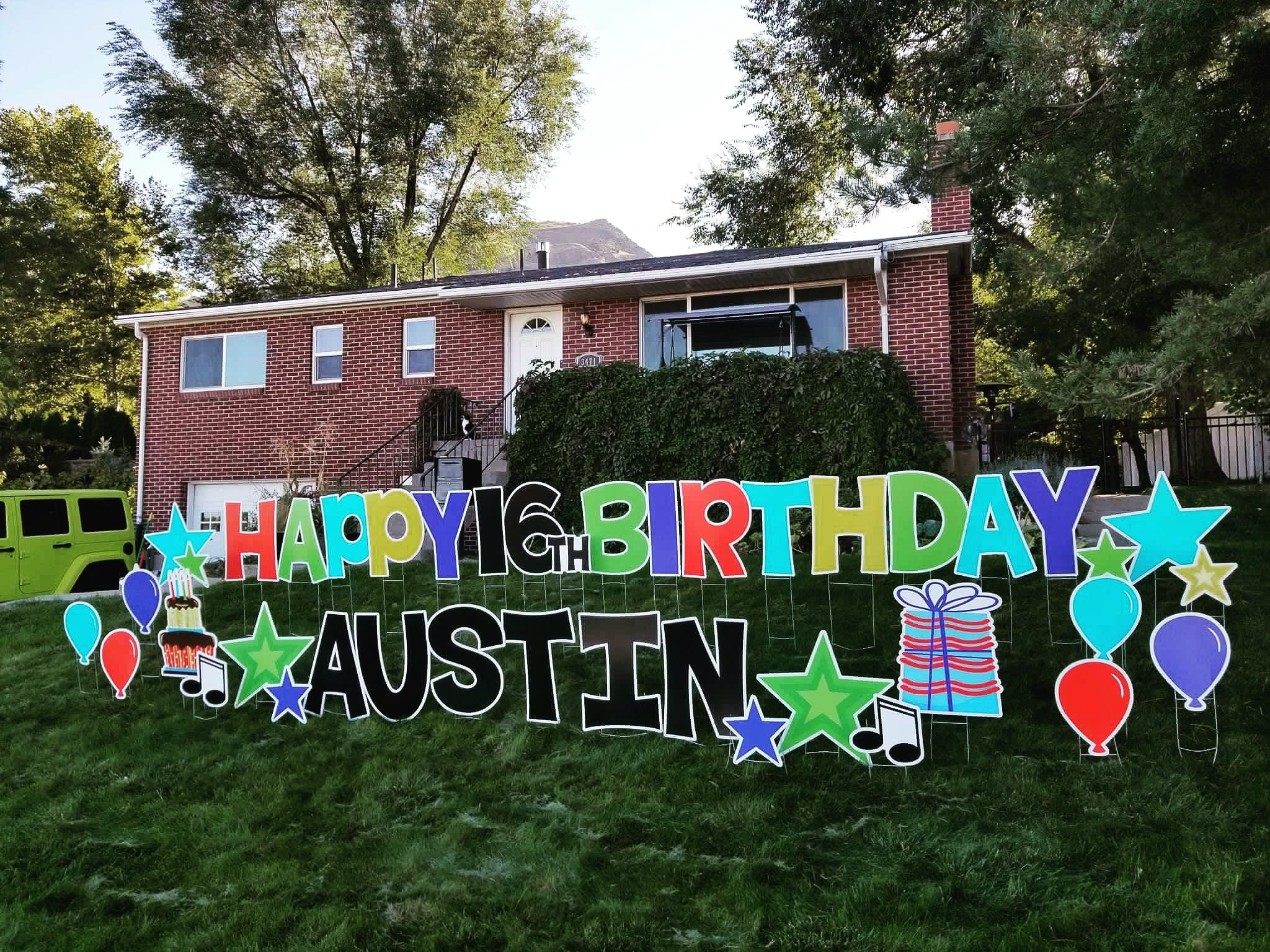 Multi Colored Boy Happy Birthday Birthday Yard Signs Happy Birthday Yard Signs Happy Birthday Signs
