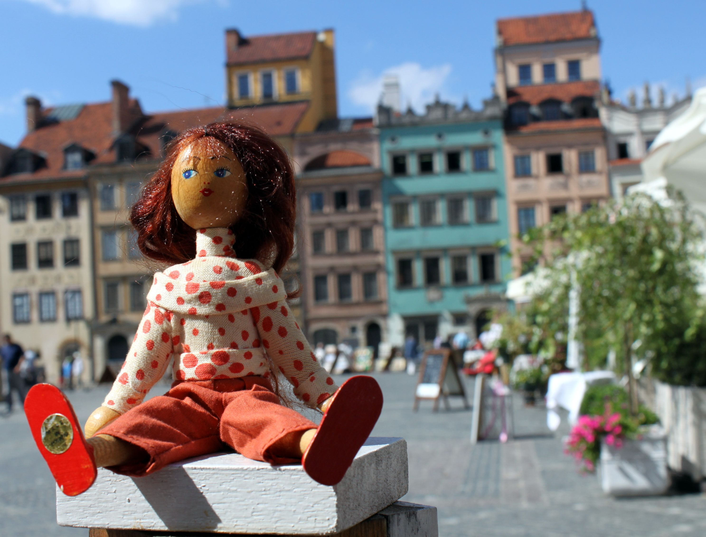on holiday in Warsaw