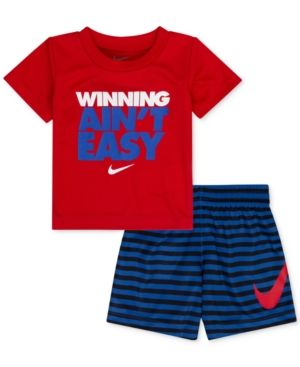 37ee2d463 Nike 2-Pc. T-Shirt & Shorts Set, Toddler & Little Boys (2T-7) - Red/Royal 3T