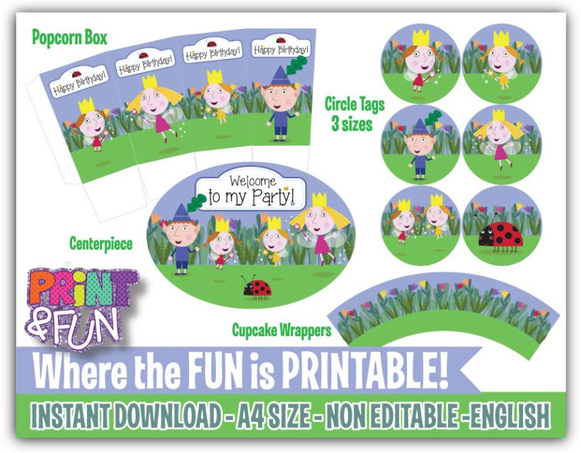 Ben and Holly\'s Little Kingdom, Party Printables, Party Decoration ...