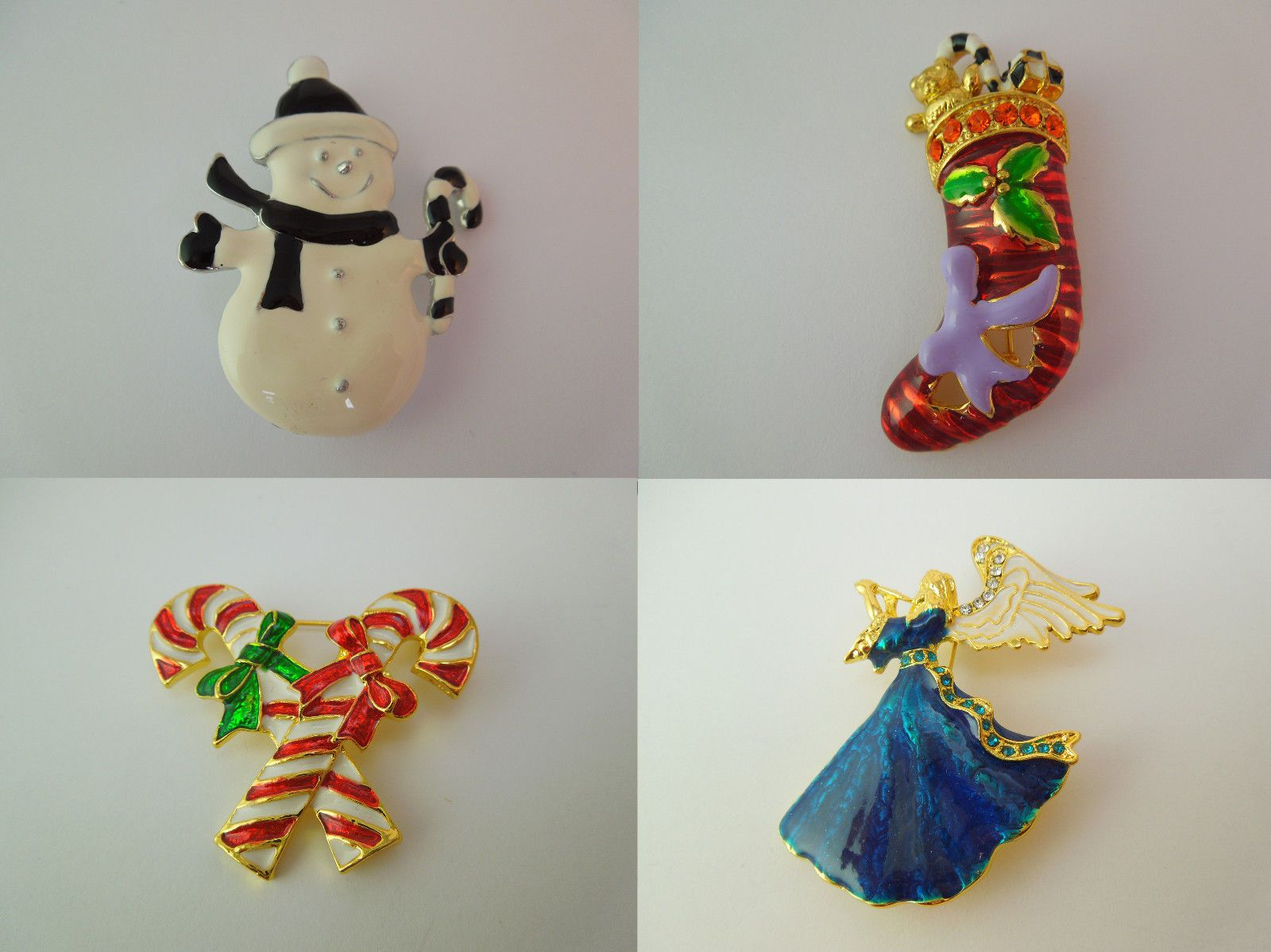 #Christmas #brooch snowman stocking #candy cane or angel,  View more on the LINK: http://www.zeppy.io/product/gb/2/252669458743/