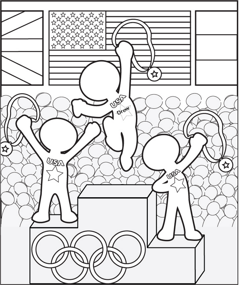 Personalized Olympics Coloring Page Frecklebox Kids Olympics Olympic Crafts Olympics Activities