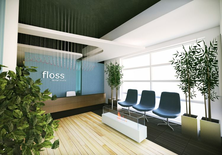 Floss Dental Studio This Dental Office Waiting Room Has A Bright Clean Modern Design