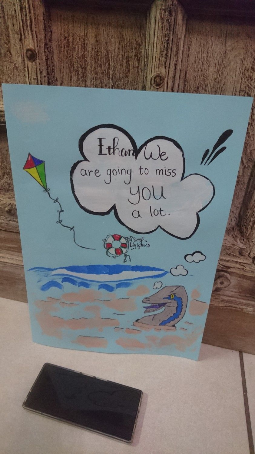 farewell card i made for my son's friend together we came