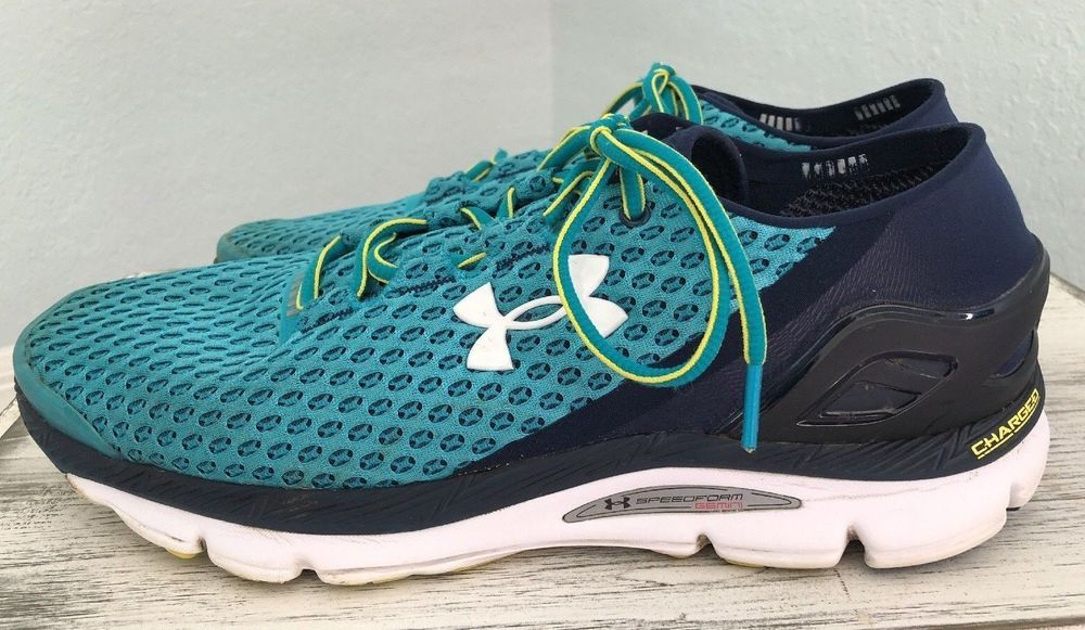 c25f9261b05 Under Armour Men s Speedform Gemini Charged Teal Navy Running Shoes Size  11.5  UnderArmour  AthleticSneakers