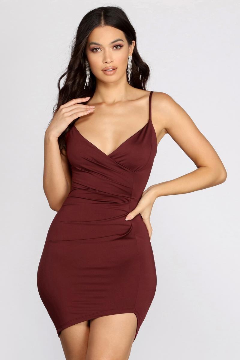 Make Your Move Wrap Mini Dress In 2021 Mini Wrap Dress Wrap Dress Short Dresses [ 1200 x 800 Pixel ]