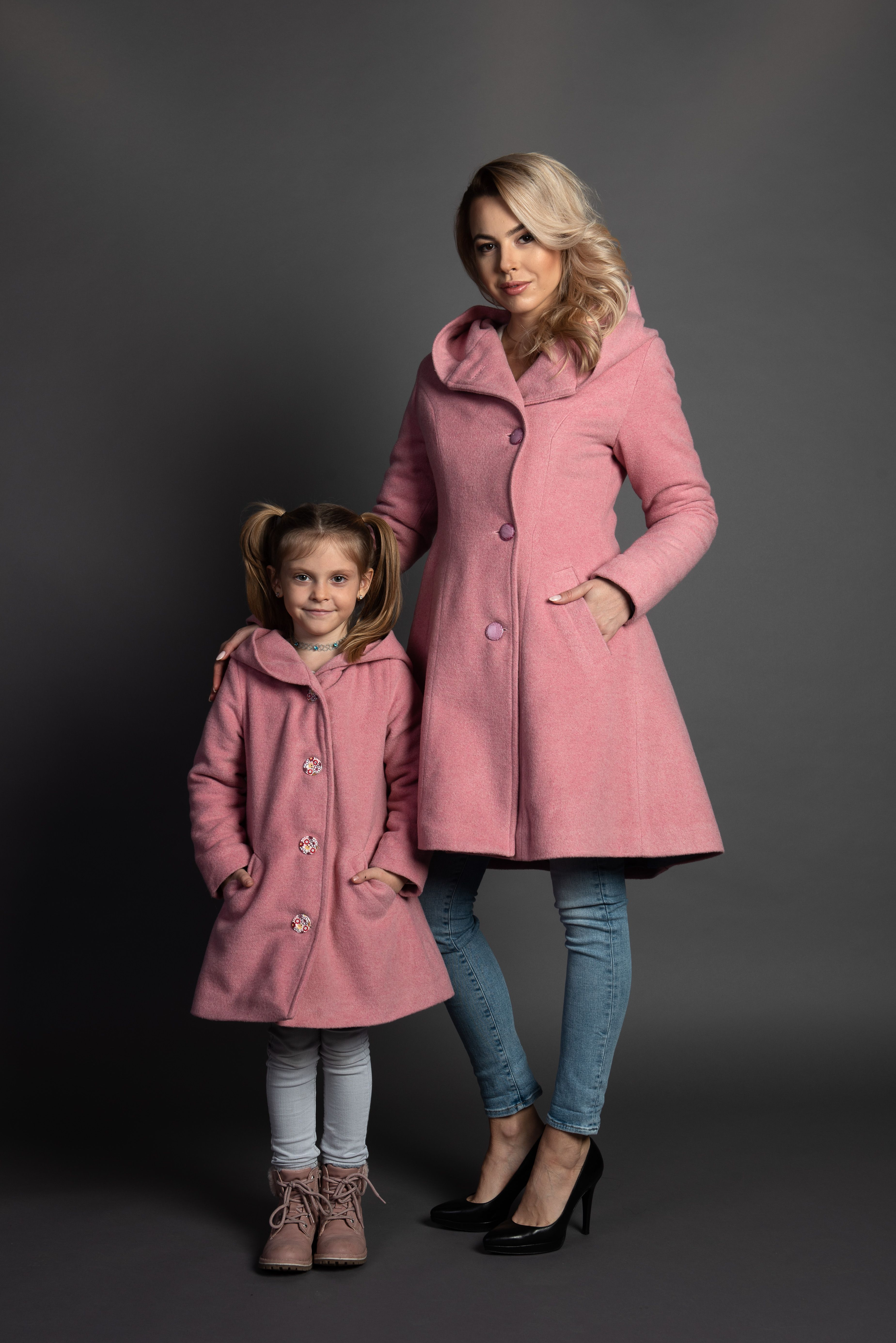 Mother And Daughter Cute Pink Matching Coats Girls Winter Coats Wool Winter Coat Winter Coats Women [ 5540 x 3698 Pixel ]
