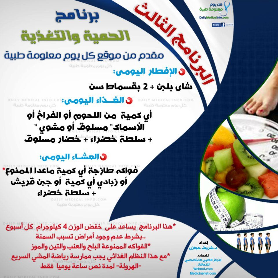 بالصور 4 برامج غذائية لفقدان الوزن مقدمة من موقع كل يوم معلومة طبية Health Fitness Food Health Facts Food Health Drinks Recipes
